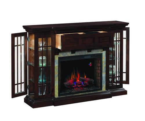 Auburn Curio Electric Fireplace at Menards
