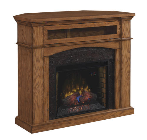 54 Oakwood Dual Mantel In Premium Oak At Menards