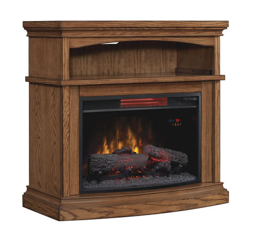 36 Midway Infrared Media Mantel In Premium Oak At Menards
