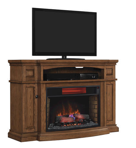 Midway Electric Fireplace In Premium Oak At Menards