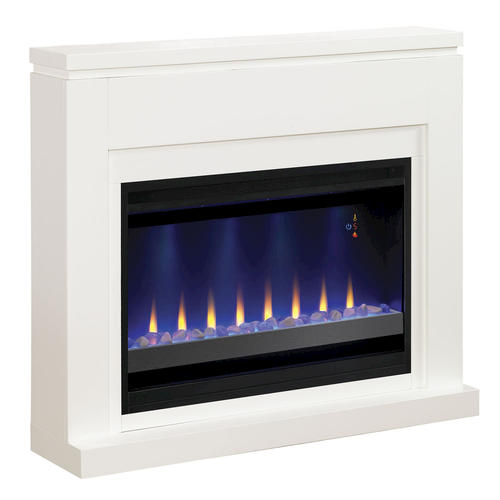 48 White Electric Fireplace At Menards