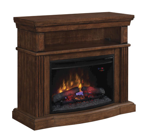 40 Hampton Dual Entertainment Media Mantel In Caramel Birch At Menards