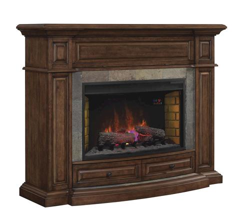 Owensboro Electric Fireplace In Caramel Birch At Menards