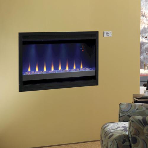 "Electric Fireplace Insert Menards Fireplace Electric: 36"" Electric Built-In Contemporary Fireplace Insert At"