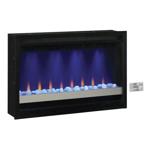 """Electric Fireplace Insert Menards: 36"""" Electric Built-In Contemporary Fireplace Insert At"""