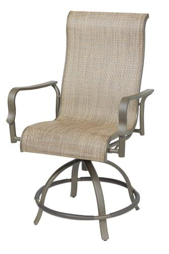 Backyard Creations Avondale Swivel Sling Balcony Chair At