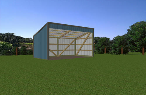 10 39 w x 18 39 l x 7 39 h open sided shed at menards for Open pole barn
