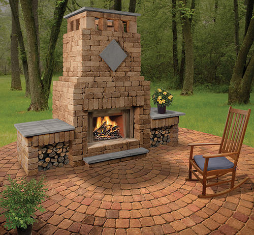 Menards Outdoor Fireplace Alpine Fireplace With 1wood Box At Menards 174