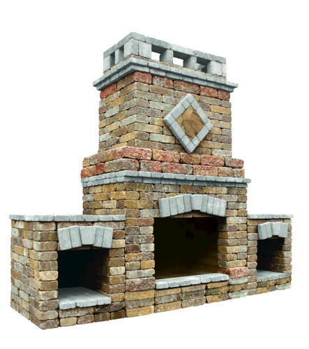 Alpine Fireplace W 2 Wood Boxes At Menards