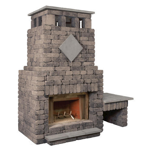 Bradford Fireplace With Single Woodbox At Menards
