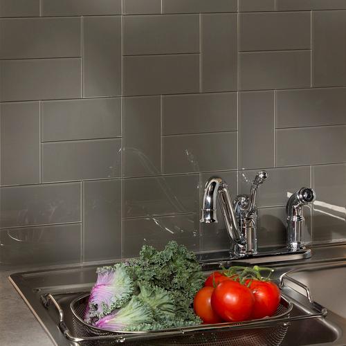 "Aspect 3"" X 6"" Leather Glass Peel & Stick Backsplash Tiles"
