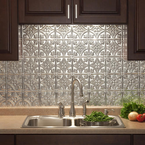 fasade traditional 1 18 quot x 24 quot pvc backsplash panel at