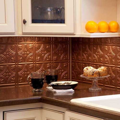 Fasade Traditional 1 18 X 24 Pvc Backsplash Panel At Menards