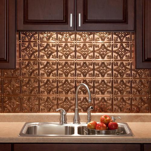 fasade traditional 1 18 x 24 pvc backsplash panel at