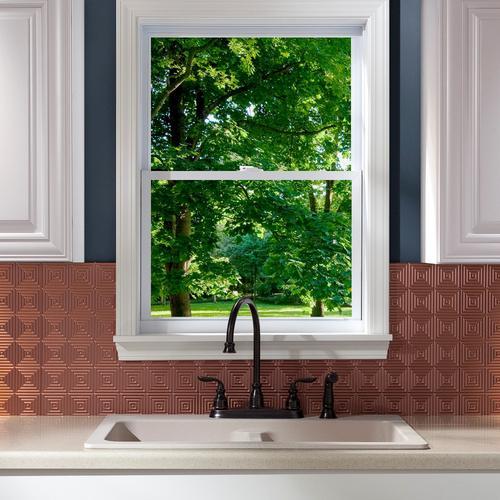 fasade miniquattro 18 x 24 pvc backsplash panel at menards