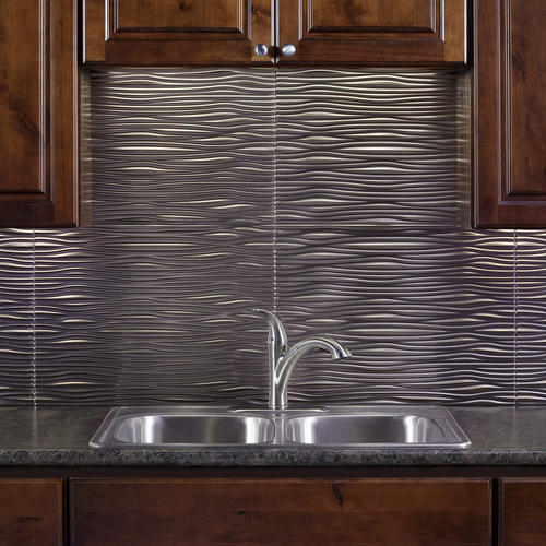 fasade waves 18 quot x 24 quot pvc backsplash panel at menards 174