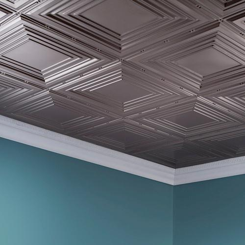 Fasade Traditional 3 2 39 X 4 39 Pvc Glue Up Ceiling Tile At Menards