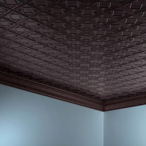 fasade traditional 4 2 39 x 4 39 pvc glue up ceiling tile at