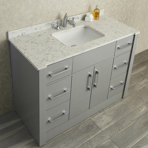 Radcliff 48 single sink bathroom vanity set taupe grey - Menards bathroom vanities 48 inches ...