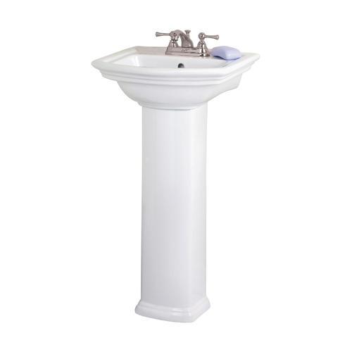 Short Pedestal Sink : Barclay Washington Small Pedestal Bathroom Sink Column, White - COLUMN ...