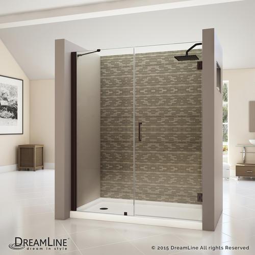 Dreamline unidoor 56 to 57 hinged shower door clear - Menards exterior doors with glass ...