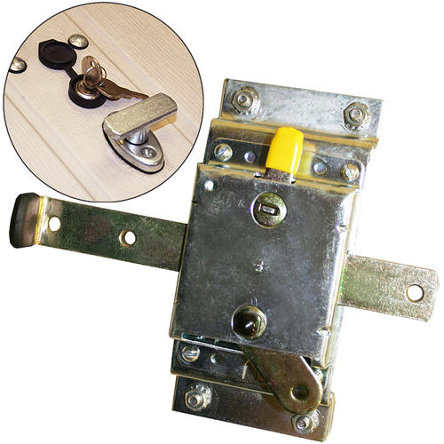 Bilco Universal Steel And Chrome Basement Door Lock Kit At Menards