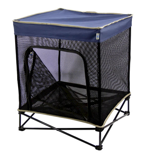 Quik Shade Small Instant Pet Kennel with Mesh Bed Navy