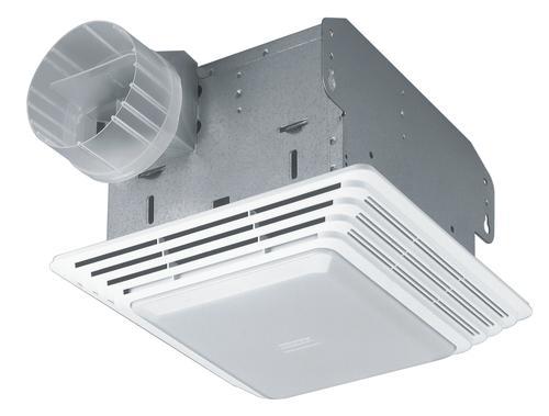 Broan heavy duty ventilation fan with light 80 cfm at - Broan 80 cfm bathroom fan with light ...