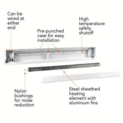 cadet 500w 240v 30 quot  baseboard heater at menards u00ae cadet 240v baseboard heater wiring diagram cadet electric baseboard heater wiring diagram