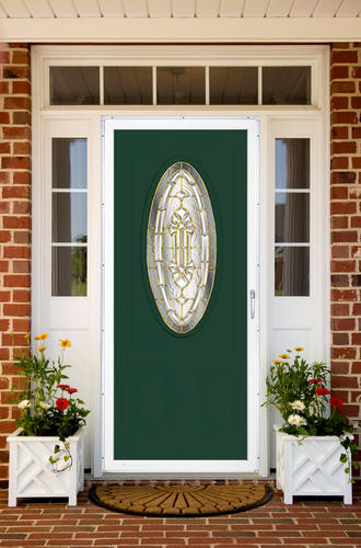 Chamberdoor grandview 32 x 80 white hardware aluminum for 32x80 storm door