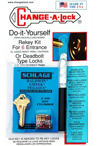 rekeying kit for 6 schlage door locks at menards. Black Bedroom Furniture Sets. Home Design Ideas