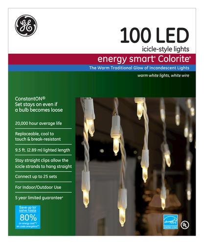 Ge Energy Smart 174 Colorite 100 Light Mini Led Icicle