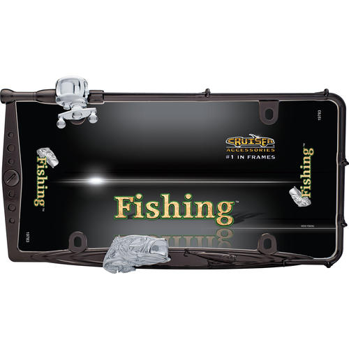 Fishing license plate frame at menards for Fishing license plate