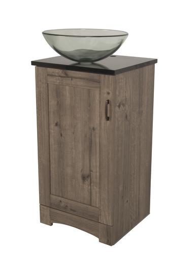 Simple  Oak Modern Bathroom Vanity W Side Cabinet Amp Vessel Sink At Menards