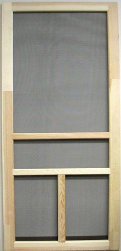 36 X 81 Heavy Duty Wood T Bar Screen Door At Menards