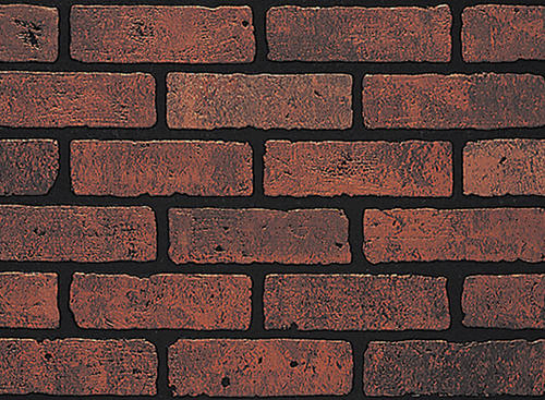 Dpi earth stones 4 39 x 8 39 gaslight ii red brick hardboard - Brick decorative wall panels ...