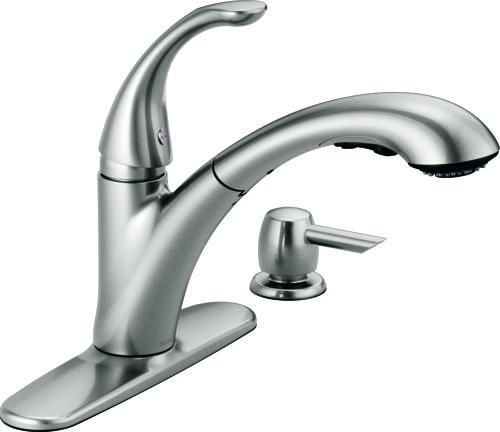 Delta® Pixa™ Pull-Out Kitchen Faucet With Soap Dispenser