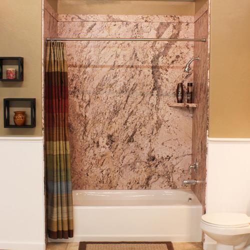 flexstone 60 x36 x78 royal 3 panel tub or shower kit at