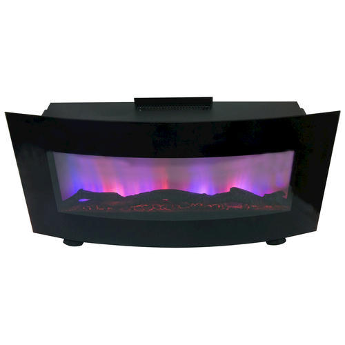 Curved 34 Quot Wall Mount Electric Fireplace At Menards 174