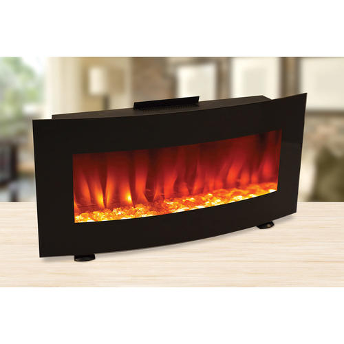 Curved 34 Wall Mount Electric Fireplace At Menards
