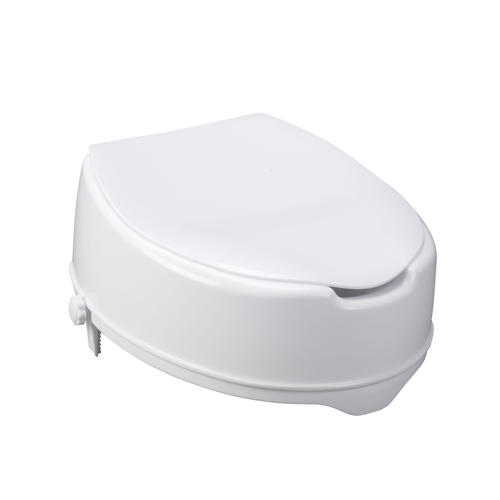 Drive Medical 6 Quot Raised Toilet Seat With Lock And Lid At