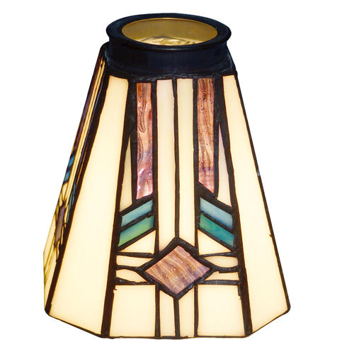 "Patriot Lighting 2-1/4"" Flitter Square Tiffany Glass At"