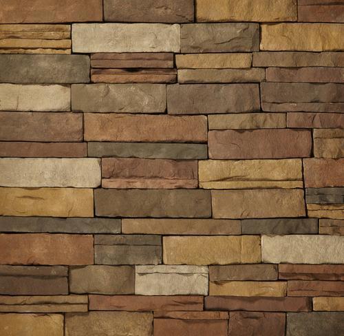 Clipstone sand ledgestone flats 8 sq ft at menards for Mortarless stone veneer panels