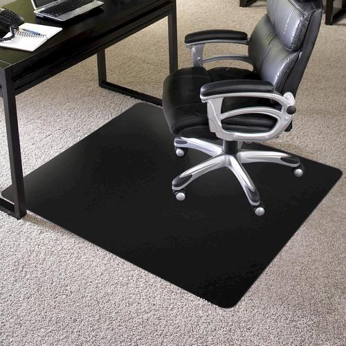 es robbins trendsetter black chair mat for carpet at menards