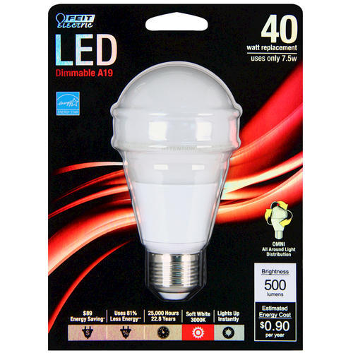 500 Lumen 3000k Dimmable Led: Feit 40 Watt Replacement 3000K Dimmable LED Light Bulb At