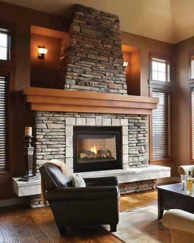 """45"""" LP Gas Direct-Vent Fireplace with Standard Barrier ..."""