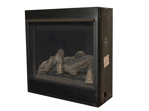 """40"""" LP Gas Direct Vent Fireplace with Standard Barrier"""