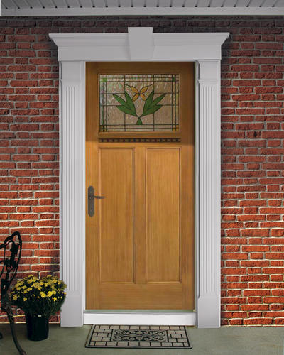 Fypon entrance trim kit with 6 x 85 fluted pilasters and for Painting fypon