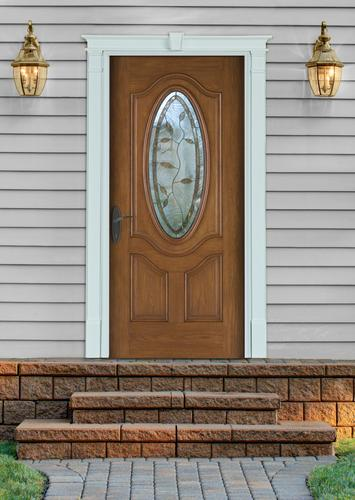 Fypon entrance trim kit with 5 1 4 x 85 plain pilasters for Front door surround kits