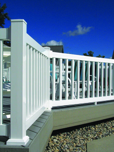 Fypon quickrail plus 4 x 4 x 44 white square complete Fypon quick rail